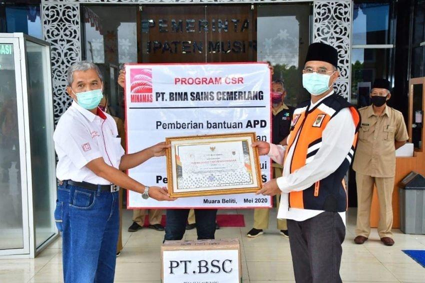 Program CSR, PT BSC Sumbang Bantuan APD Ke Pemkab Mura